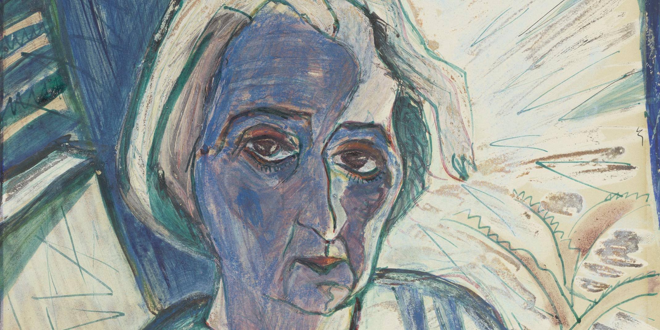 Walter Gramatté (1897 - 1929), Bildnis Rosa Schapire (1874-1954), 1920, © Hamburger Kunsthalle / bpk  Foto: Christoph Irrgang