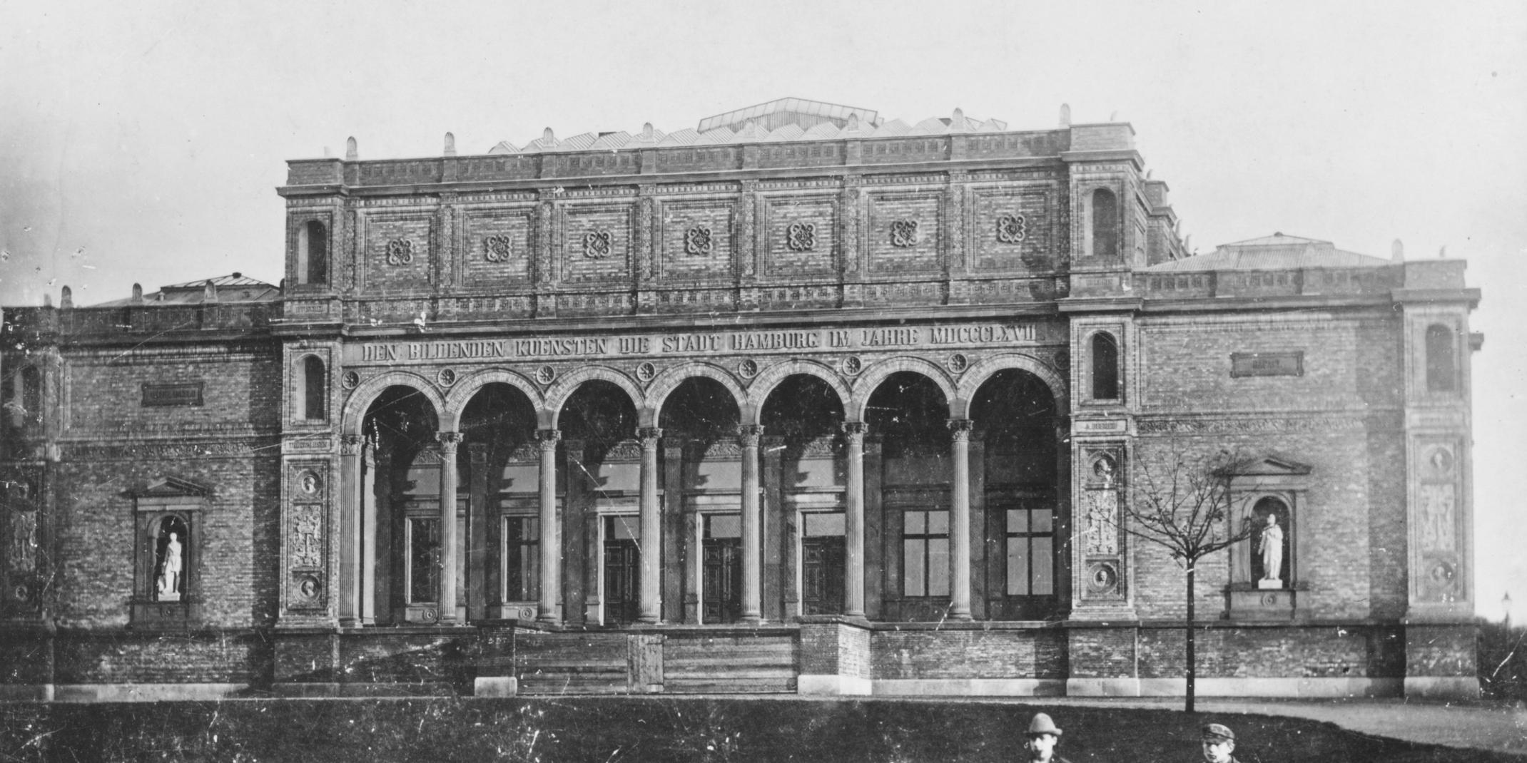 Gründungsbau der Hamburger Kunsthalle, vor 1889 Foto: Hermann Priester © Hamburger Kunsthalle