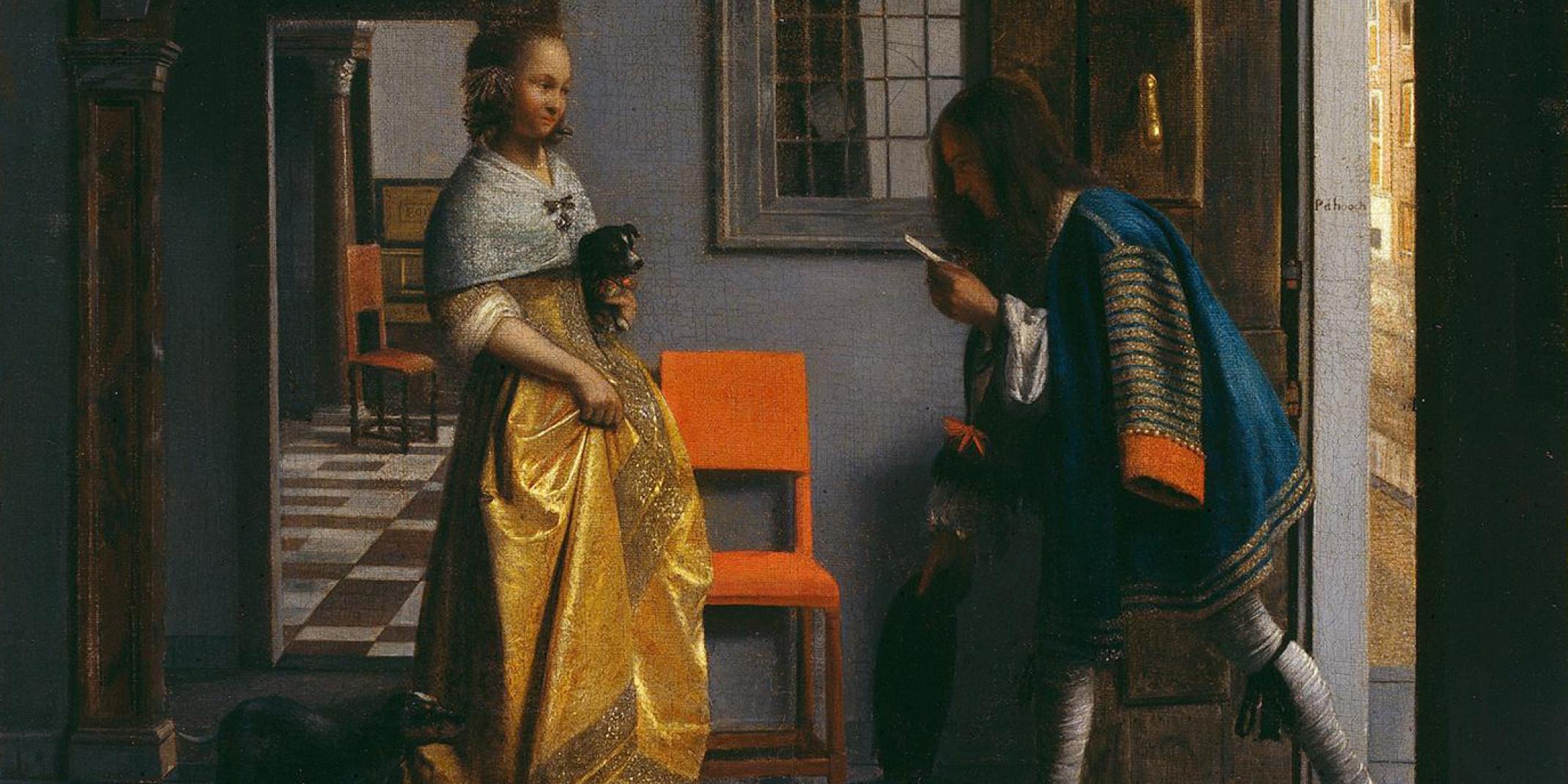 Pieter de Hooch (1629 - 1684) Der Liebesbote, 1670 © Hamburger Kunsthalle / bpk Foto: Elke Walford