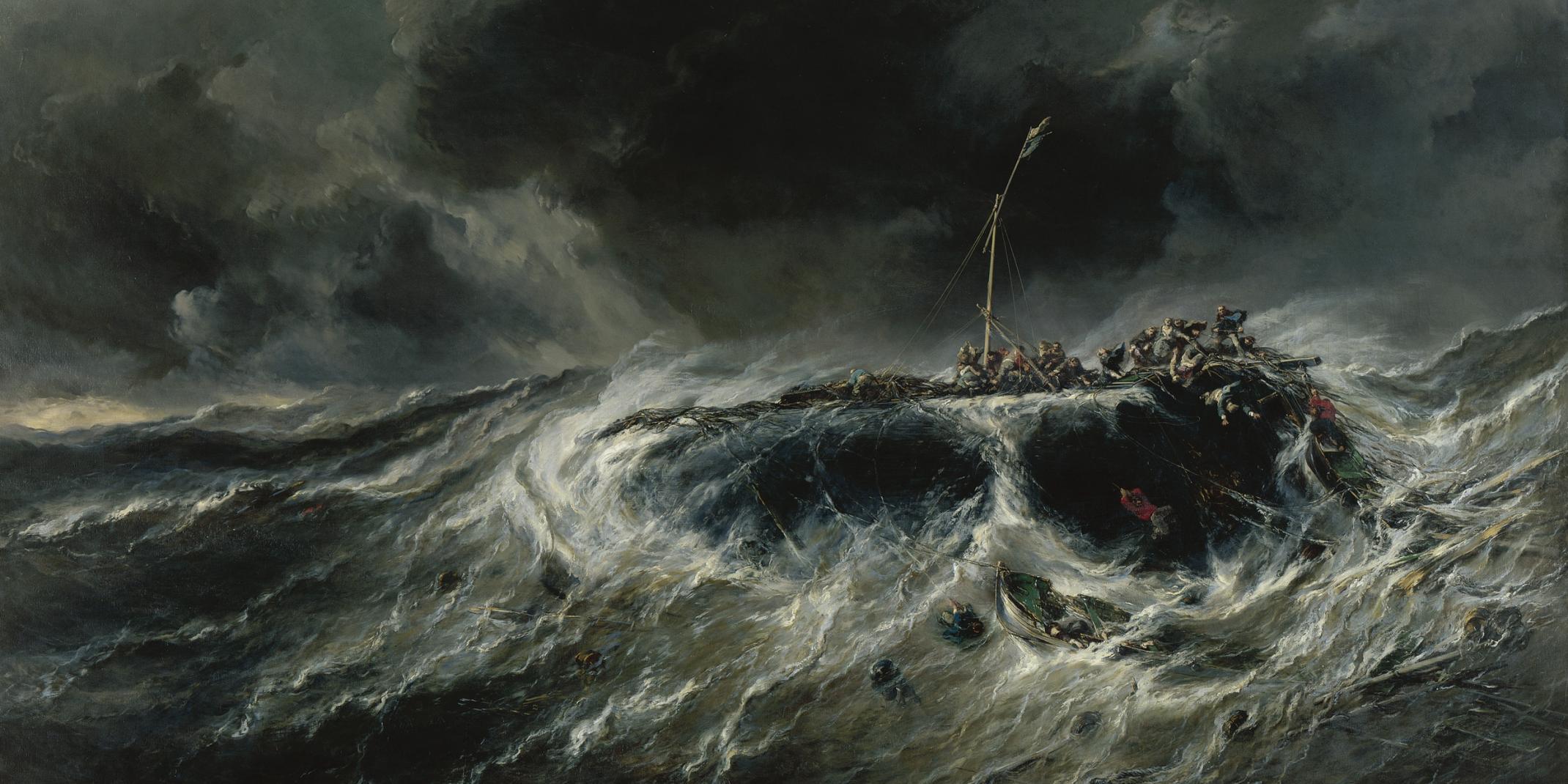 Eugène Isabey (1803-1886): Schiffbruch des Dreimasters ›Emily‹ im Jahr 1823, 1865, Musée d´arts de Nantes, Foto Gérard Blot/Agence photographique de la Réunion des Musées Nationaux - Grand Palais des Champs Elysées