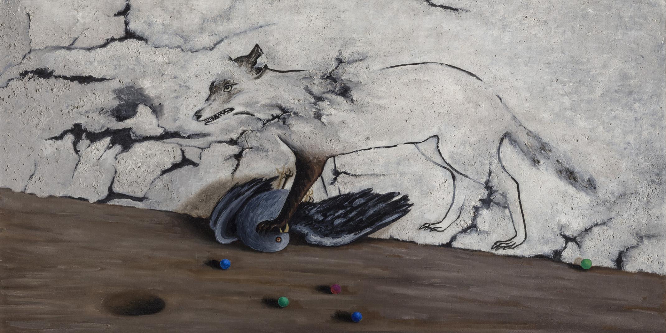 TOYEN (1902-1980) Na zámku La Coste / Im Schloss La Coste / At La Coste Castle, 1943 Öl auf Leinwand, 65 x 87 cm National Gallery in Prague © VG Bild-Kunst, Bonn 2021 Foto: © National Gallery Prague 2021