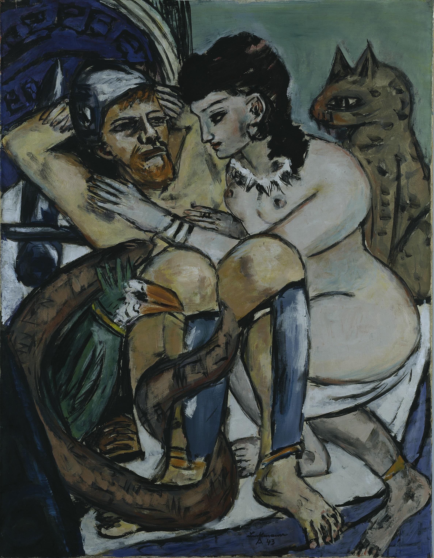 Max Beckmann, Odysseus und Kalypso, 1943, © Hamburger Kunsthalle / bpk © VG Bild-Kunst, Bonn Foto: Elke Walford