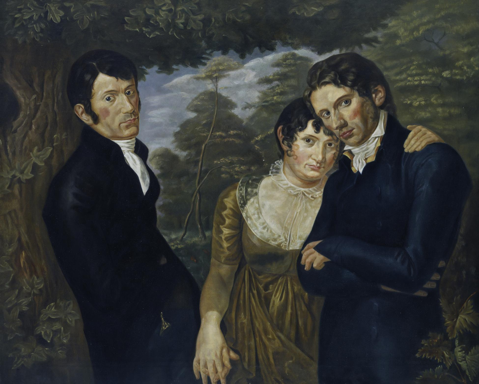 """Bildbeschreibungen zu """"Wir Drei"""" Kopie nach Philipp Otto Runge  Von Julius von Ehren (1864-1944)  © Hamburger Kunsthalle / bpk  Foto: Elke Walford"""
