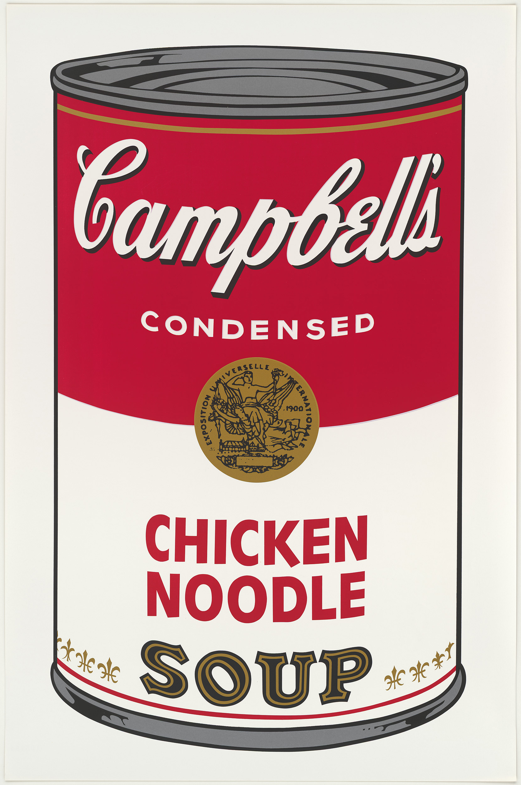 Andy Warhol (1928–1987) Campbell's Soup I (Blatt 2, Chicken Noodle), 1968 Siebdruck, je 88,9 x 58,4 cm Dauerleihgabe der Stiftung Hamburger Kunstsammlungen © 2021 The Andy Warhol Foundation for the Visual Arts, Inc. / Licensed by Artists Rights Society (A