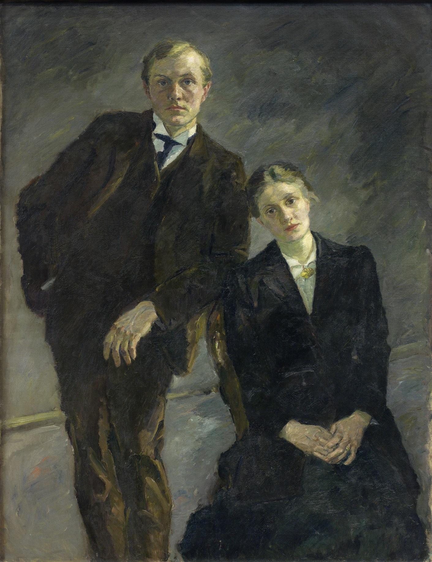 Max Beckmann, Doppelbildnis Max Beckmann und Minna Beckmann-Tube, 1909, Kulturstiftung Sachsen-Anhalt, Kunstmuseum Moritzburg Halle (Saale)